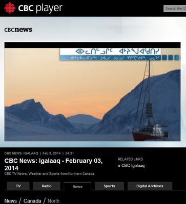 CBCNews 3 fevrier 2014
