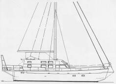 Vagabond totally refit, drawing by G. Caroff
