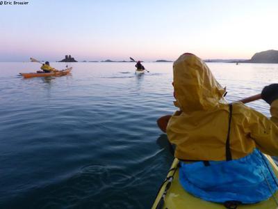 Kayak en baie de Morlaix