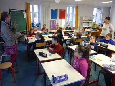 Rencontre classe de Leonie Ecole Hanvec