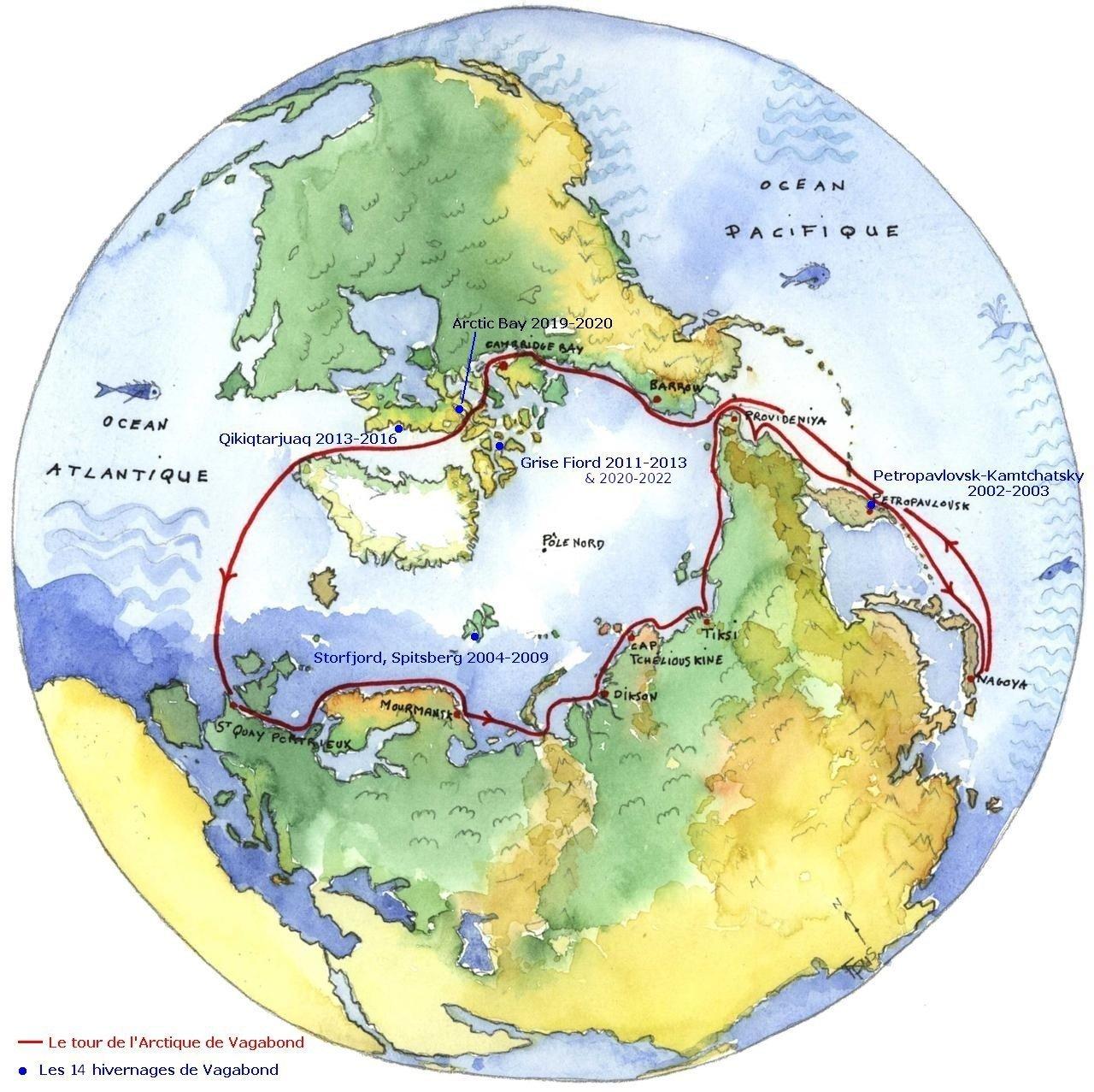 Carte des expéditions de Vagabond