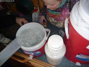 Ajout eau de mer filtree pour accelerer fonte carottes de glace