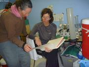 France et Caroline au labo a Qikiqtarjuaq