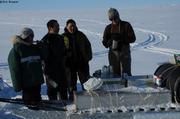 Partage caribou congele avec Nadine et Charlie