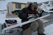 Glaciometre en reparation