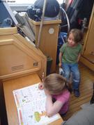 Leonie ecole a bord