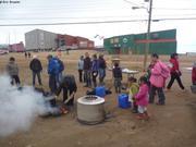 The sur feu de bruyere Nunavut Day