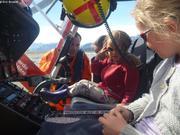 Aurore pilote et Leonie copilote helico