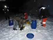 Collecte morceaux iceberg pour eau douce