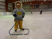 Aurore apprend a patiner