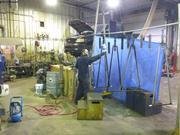 Yves fabrique timons pour traineaux