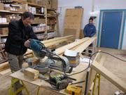 Jean-Jacques et Jose preparent plancher tente