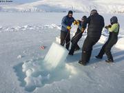 Retrait des 4 blocs de glace