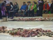 Festin de caribou clams algues phoque pour Paques