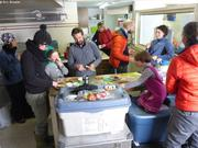 Lunch rapide au Base Camp