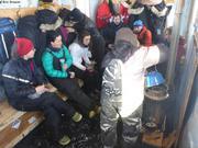 Lunch dans cabane