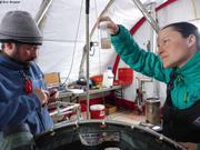 Premier echantillon de plancton