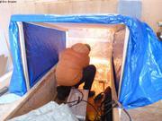 Jaypootie acheve fabrication toit pour traineau