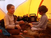 Longs sejours sous la tente car mauvais temps