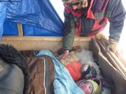 Dormir dans le traineau