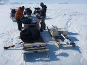 Pause sur l'ile de glace