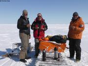 Christian Eric et Jaypootie sur ile de glace