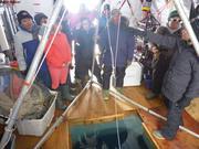 Visite des eleves au camp de glace