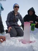 Anita demontre porosite glace de mer