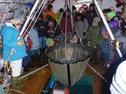 Collecte de plancton avec les anciens
