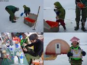 Pierre et son assistante diplomee au camp de glace