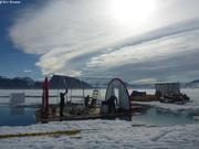 Demontage tente camp de glace
