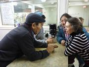 Avec Michele Therrien au Coffee Shop de Qikiqtarjuaq