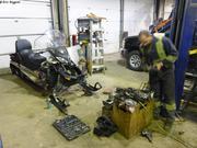 Demontage moteur skidoo