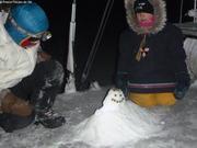 Petit bonhomme de neige sur le pont