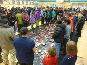 Caribou phoque narval et lagopede pour 1er janvier