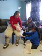 France essaye pantalon peau d ours chez Sarah