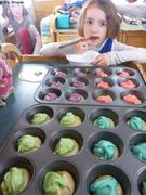 Cupcakes marbres pour fete anniversaire
