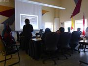 Presentation au conseil municipal de Qikiqtarjuaq du projet de station de recherche