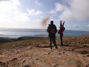 Sable fin au-dessus d Arctic Bay