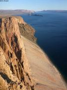 Depuis falaises Adams Sound