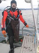 Eric pare pour collecte de coralline