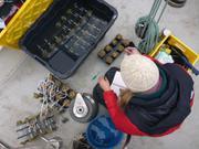 Preparation des plaques d echantillons de coralline