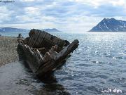 Barque de chasseur echouee