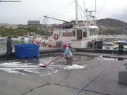 Aurore sur le quai d Ilulissat