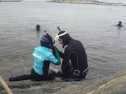 Premier cours de plongee pour Leonie