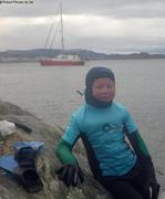 Leonie apres plongee eau glaciale