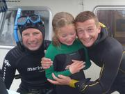 Eric Leonie et Laurent apres plongee a Ilimanaq