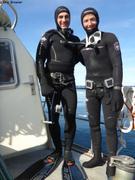 Patrick et Laurent heureux plongeurs