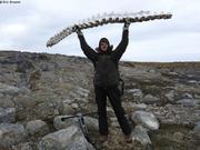 Kevin et squelette de narval