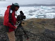 Jerome tournage icebergs Qikiqtarjuaq